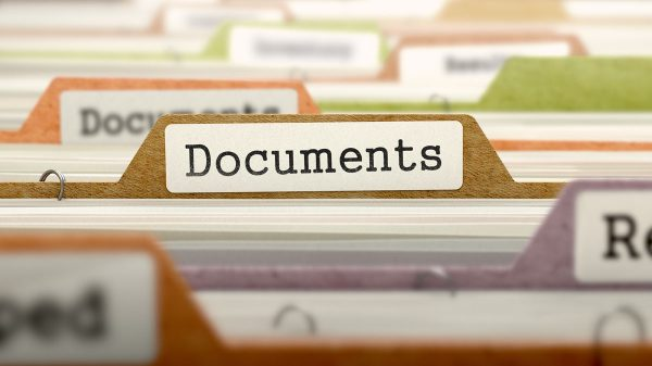 Documents on Business Folder in Catalog.